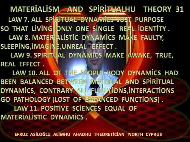Materi̇ali̇sm  and  spi̇ri̇tualhu  theory  31  b
