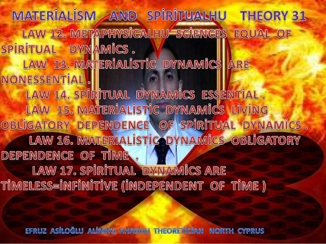 Materi̇ali̇sm  and  spi̇ri̇tualhu  theory  31  c