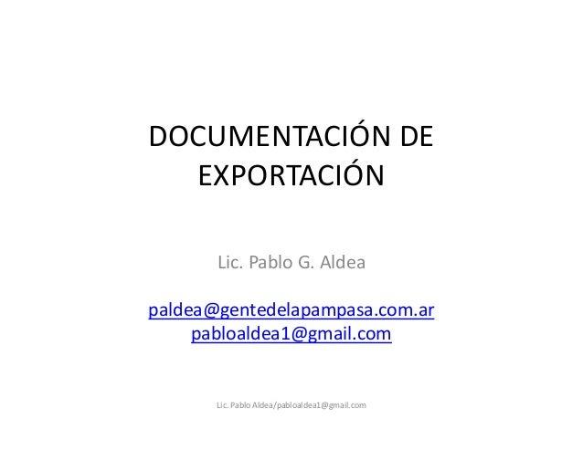 Material: Documentación de Exportación