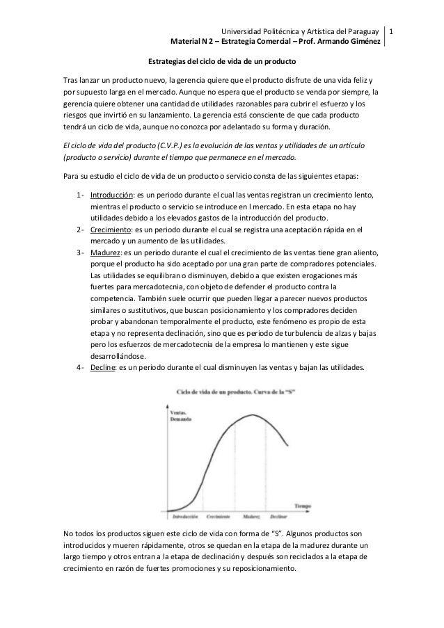 Universidad Politécnica y Artística del Paraguay 1                                  Material N 2 – Estrategia Comercial – ...