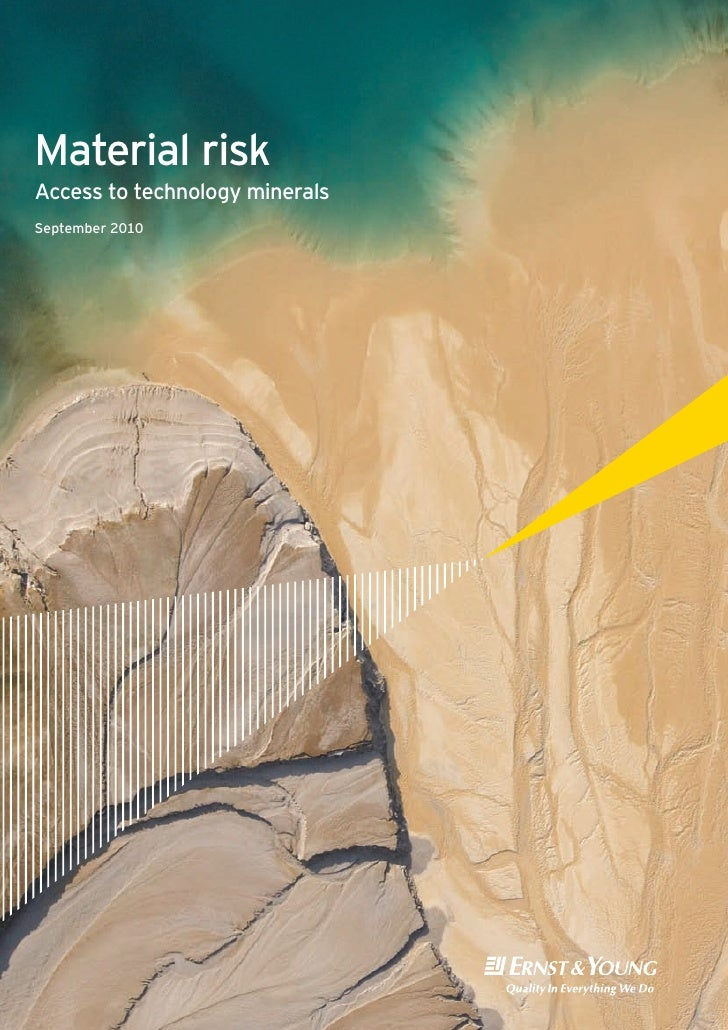 Material Risk:  Access to Technology Minerals (September 2010)