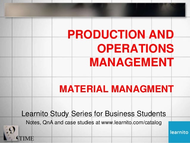 Materials management (mm) case study
