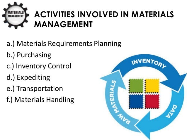the significance of materials management construction essay Site material direction is a scientific technique materials management is the procedure of planning, execution and control of field and office activities in building the stuffs direction end is to guarantee that edifice stuffs in their position when you need tomaterials direction system attempts to guarantee that the right quality and measure of stuff is read more.