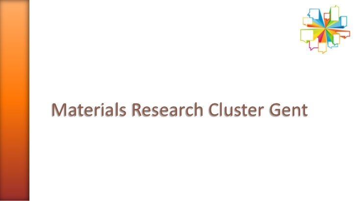 Materials Research Cluster Gent