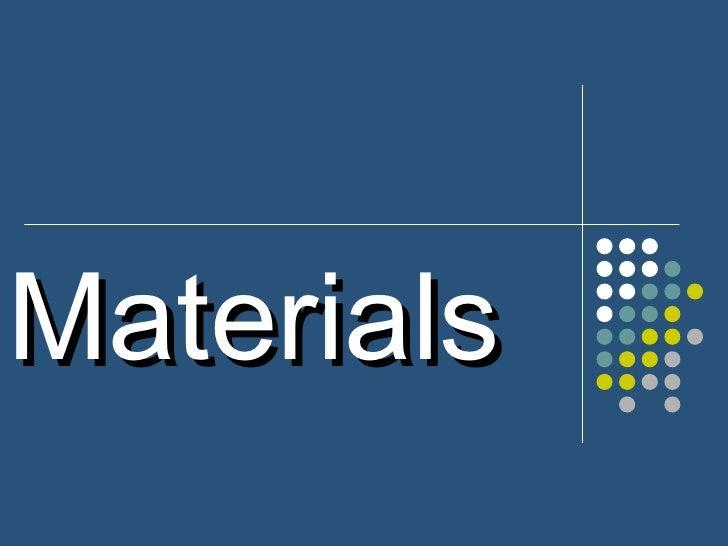 Materials u.13