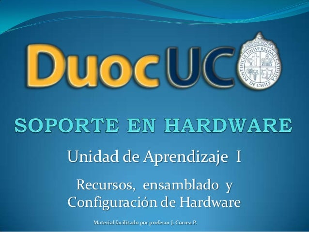 Soporte en Hardware - Materia PC