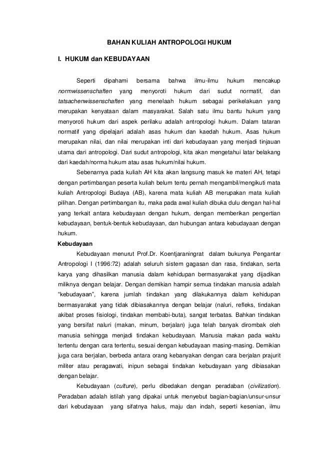 Materi kuliah Antropologi Hukum,Triyono, UNDIP