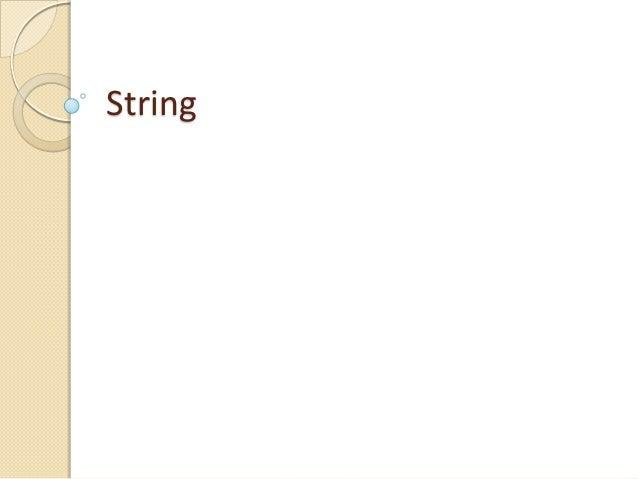 Materi kuliah 17   string