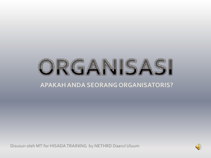 organisasi for hisada - mt