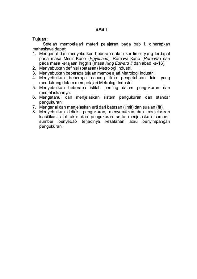 Materi perkuliahan  metrologi industri bab1