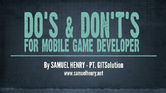 "SEMINAR ""Let's Begin to Get a New Experience to Develop Your Own Mobile Games"""