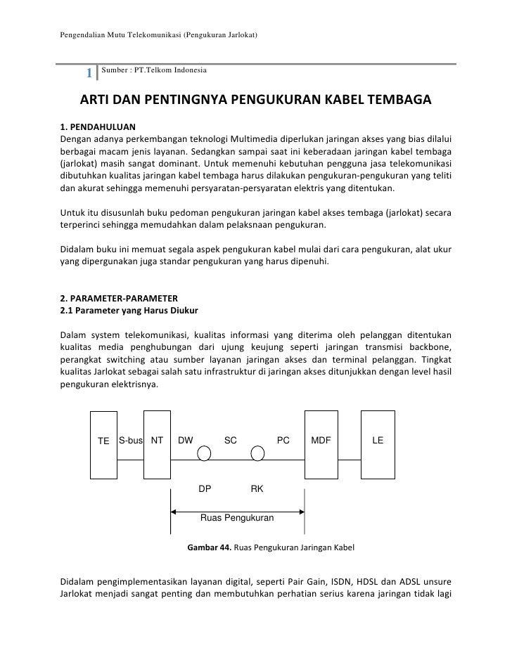 Pengendalian Mutu Telekomunikasi (Pengukuran Jarlokat)                 Sumber : PT.Telkom Indonesia        1       ARTIDA...