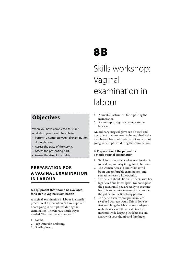 Maternal Care: Skills workshop Vaginal examination in labour