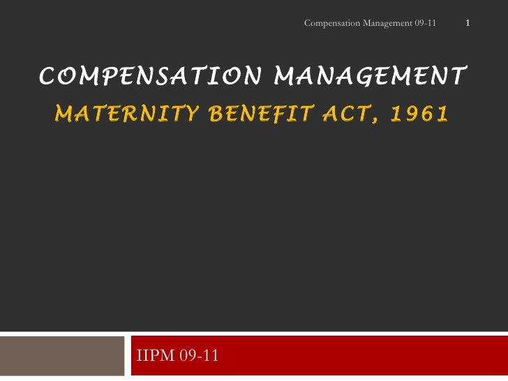 Maternity act 1961