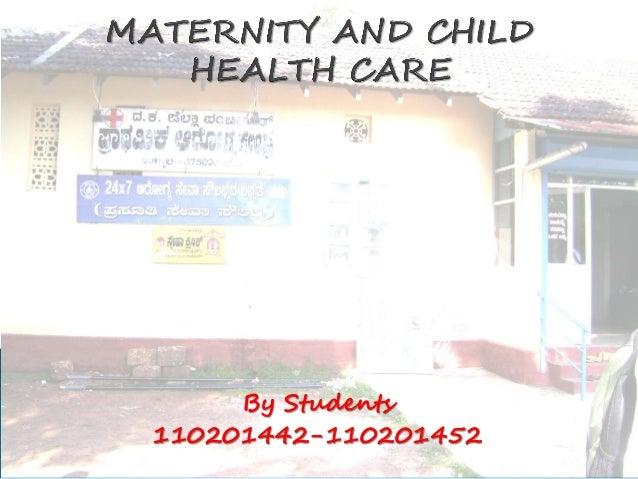 Maternity and child health care programmes