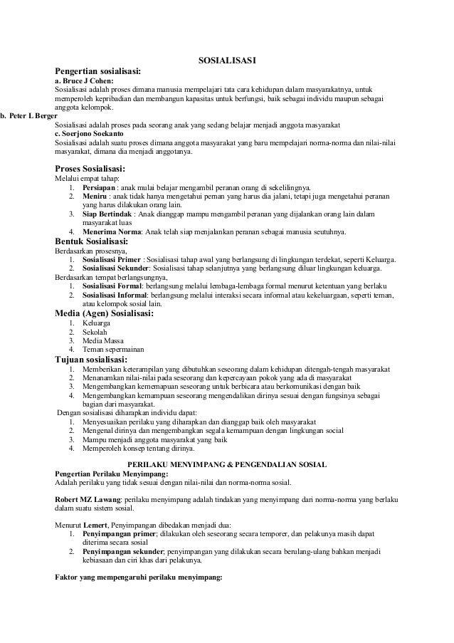 Materi sosiologi kelas x