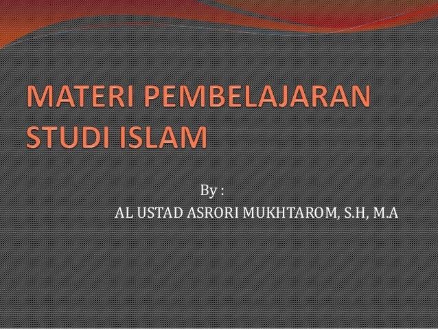 Mastering Studi Islam