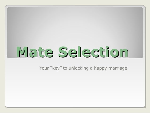 Mate selection power_point