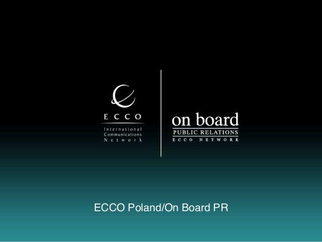 ECCO Poland/On Board PR