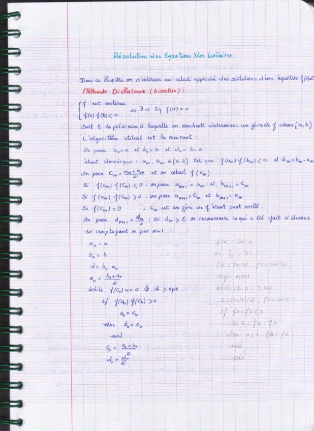 Math Analyse numérique