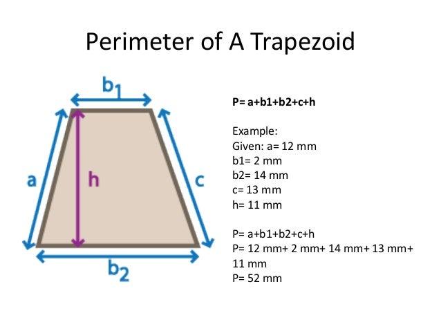 Perimeter Of A Trapezo...