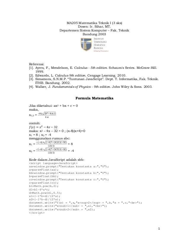 Formula Matematika