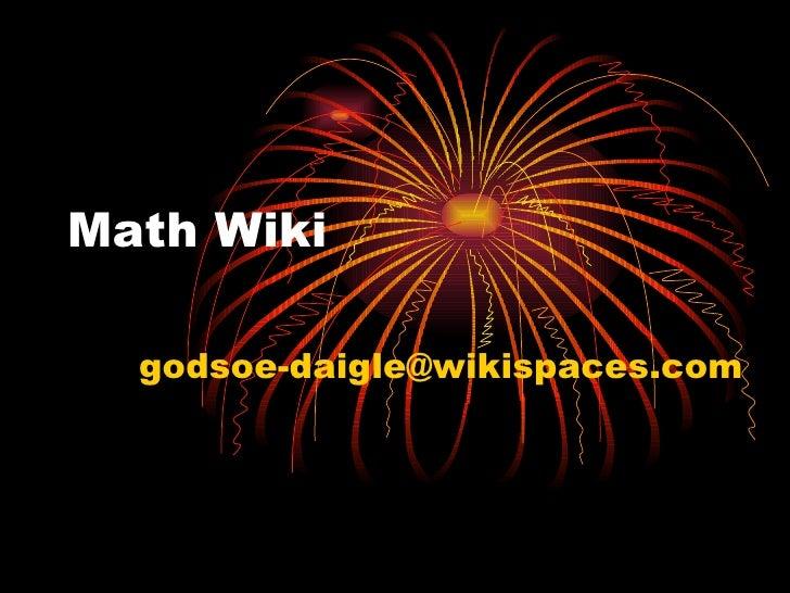 Math Wiki [email_address]