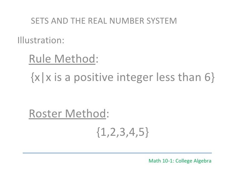 Math Examples Algebra Math 10-1 College Algebra
