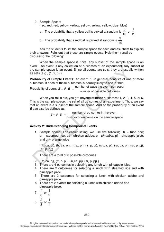 Worksheets Sample Space Worksheet sample space probability worksheet pictures to pin on pinterest sharebrowse 236x314 describing probability