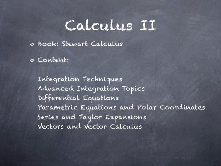 Calculus II - 1