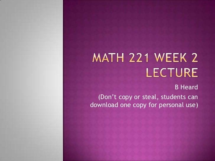 MATH 325 DeVry Week 6 iLab