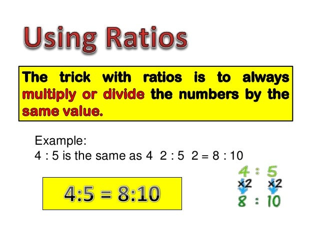 Ratio Solving Problems