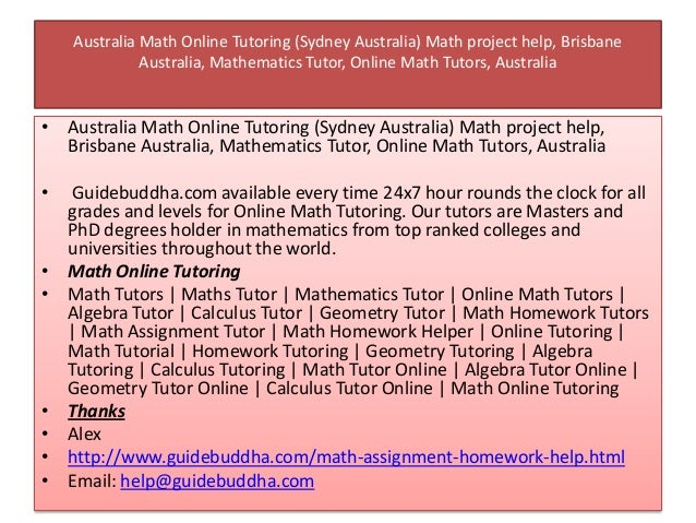 university math homework help Find the solution to your issues with homework assignments at homework help canada.