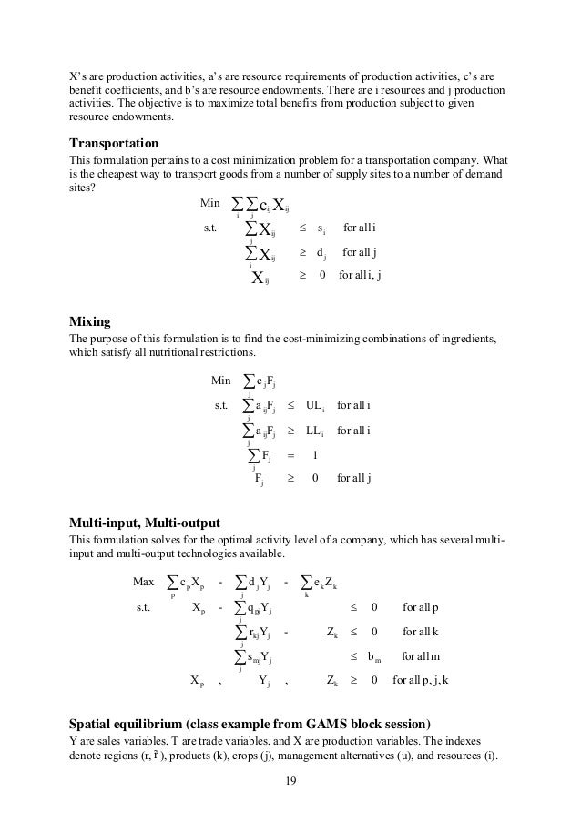 mathematical linear programming notes. Black Bedroom Furniture Sets. Home Design Ideas
