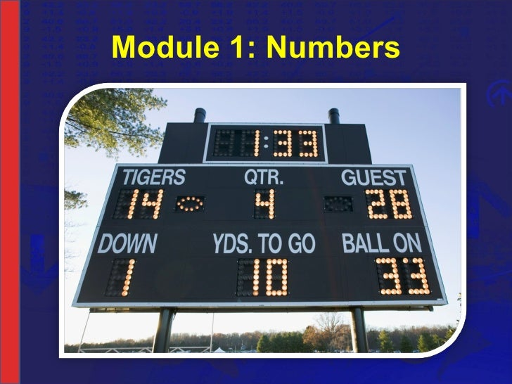 Module 1: Numbers