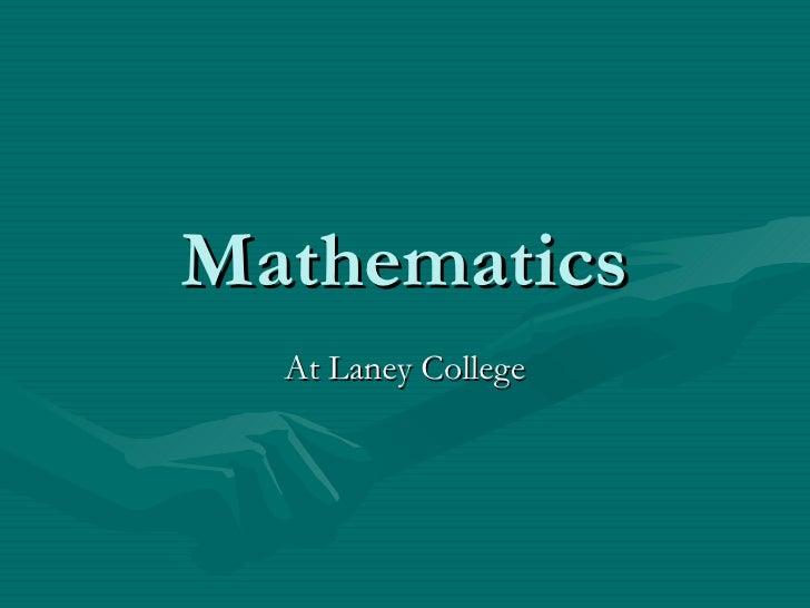 Mathematics At Laney College