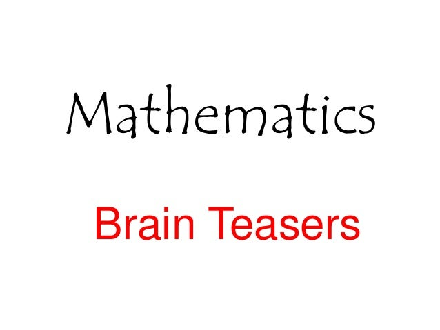 mathematical brain teasers with answers pdf