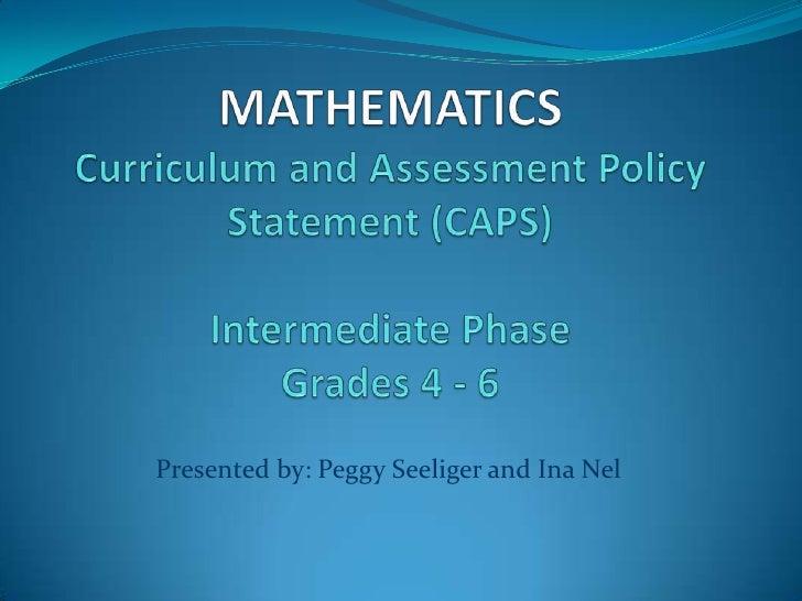 Mathematics caps intermediate phase