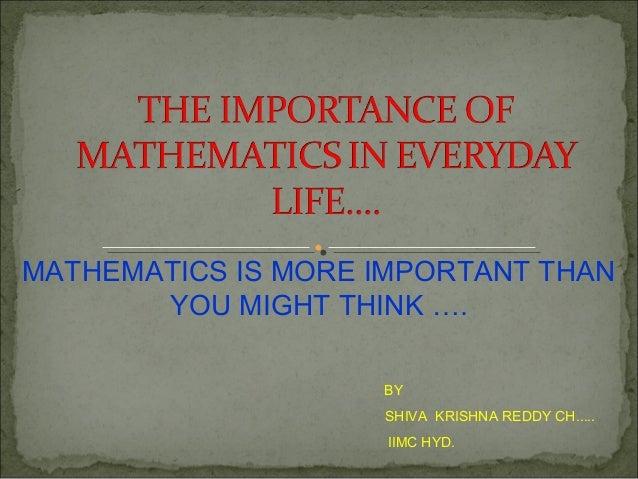 essay about importance of mathematics