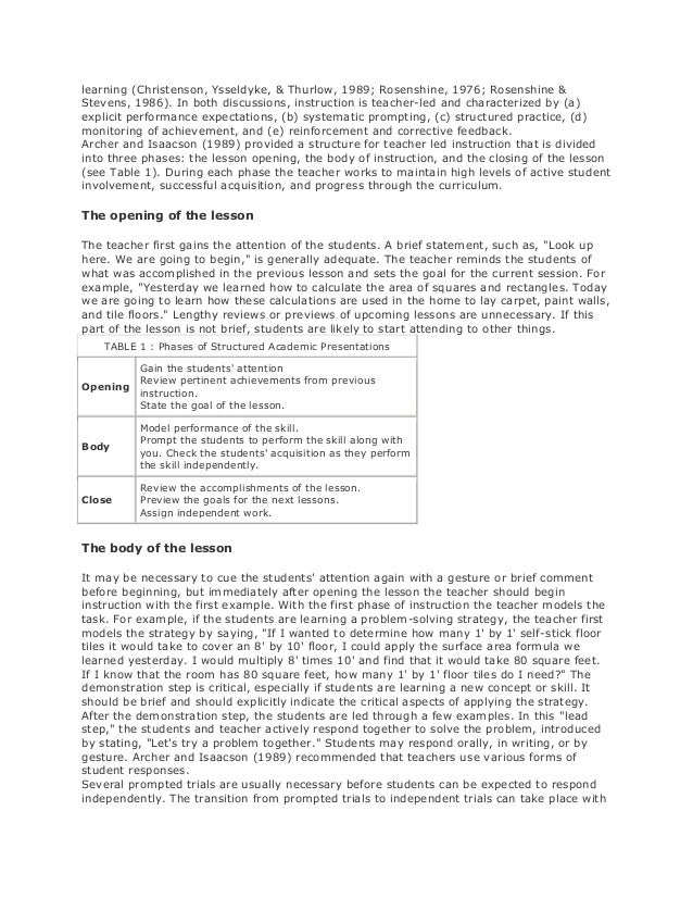 Teaching Strategies For Students With Disabilities Essay Research