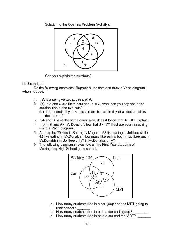 worksheet. Venn Diagram Word Problems Worksheet. Grass Fedjp ...