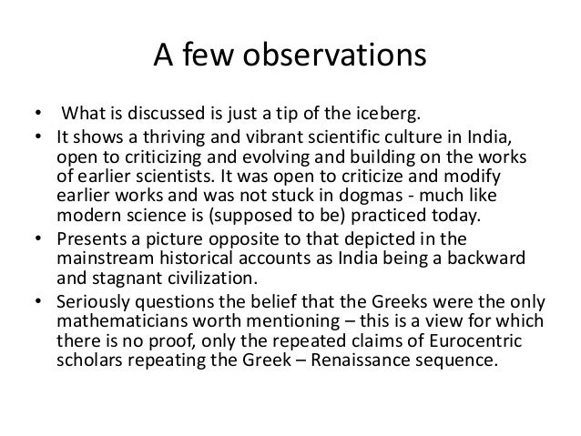 india and europe an essay in understanding