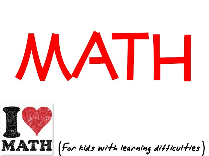 Math for students with learning difficulties