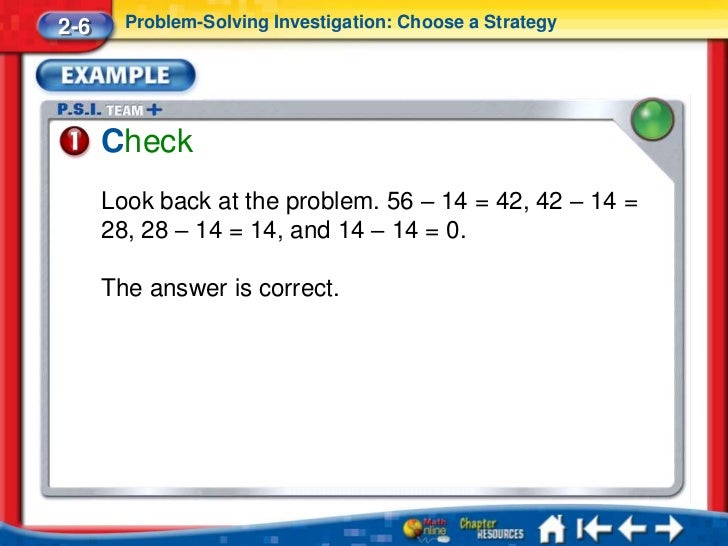 Look for a pattern problem solving