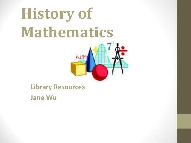 Math history r