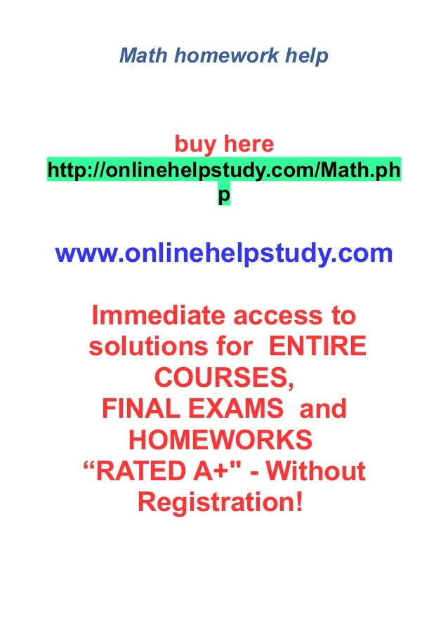 Math homework help ministry of education