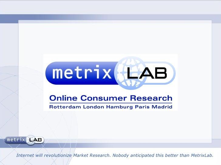 Mathilde Beljaarts Metrix Lab