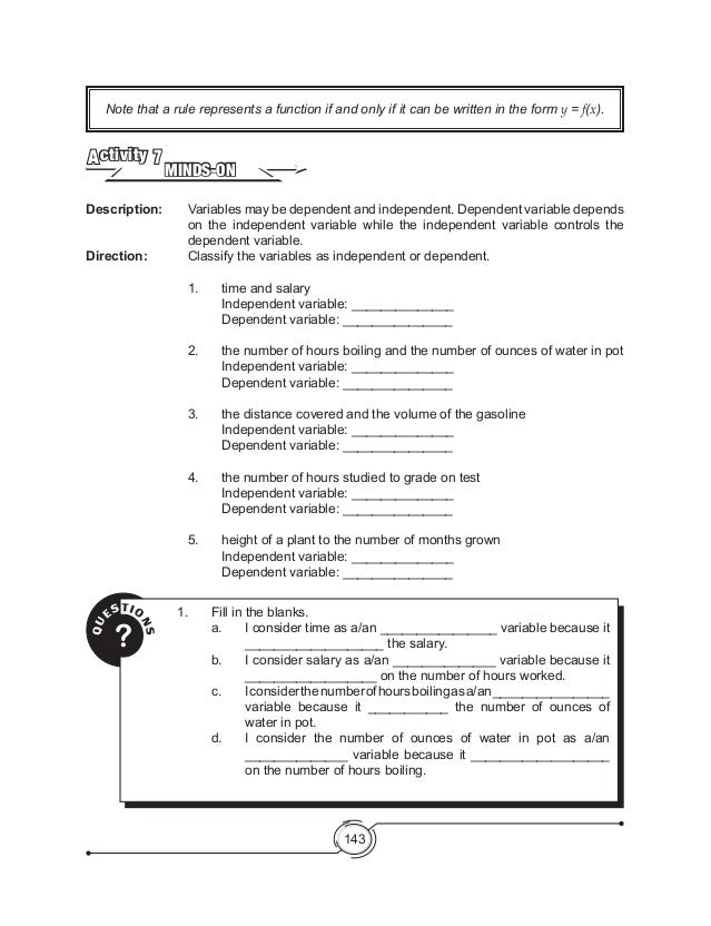 Worksheet Identifying Variables Worksheet dependent and independent variables worksheet pichaglobal 1 3 homework help essay for you