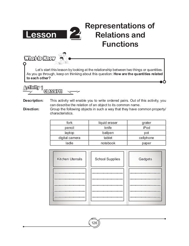 multiple representations of functions worksheet answers problem solving lesson 4 2 relations. Black Bedroom Furniture Sets. Home Design Ideas