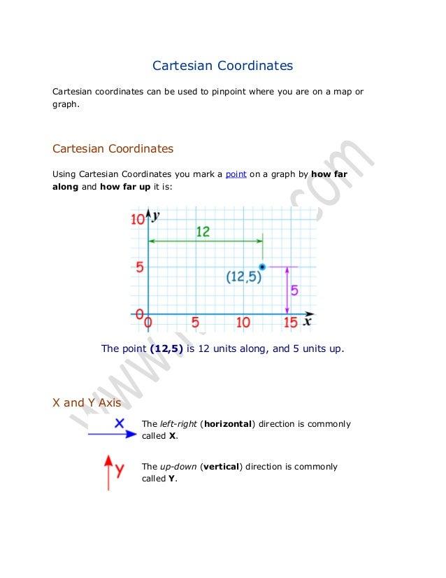 Math Lecture 11 (Cartesian Coordinates)